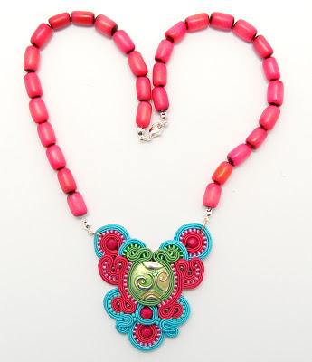naszyjnik wisior sutasz soutache pendant necklace 31