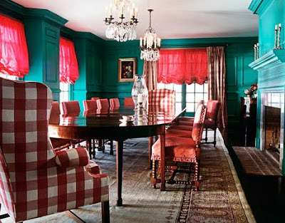 To Get The Look Of 18th Century Style Dining Room Use BENJAMIN MOORE GULF STREAM 670 This Is An Example A Cool Color Being Used In North Facing
