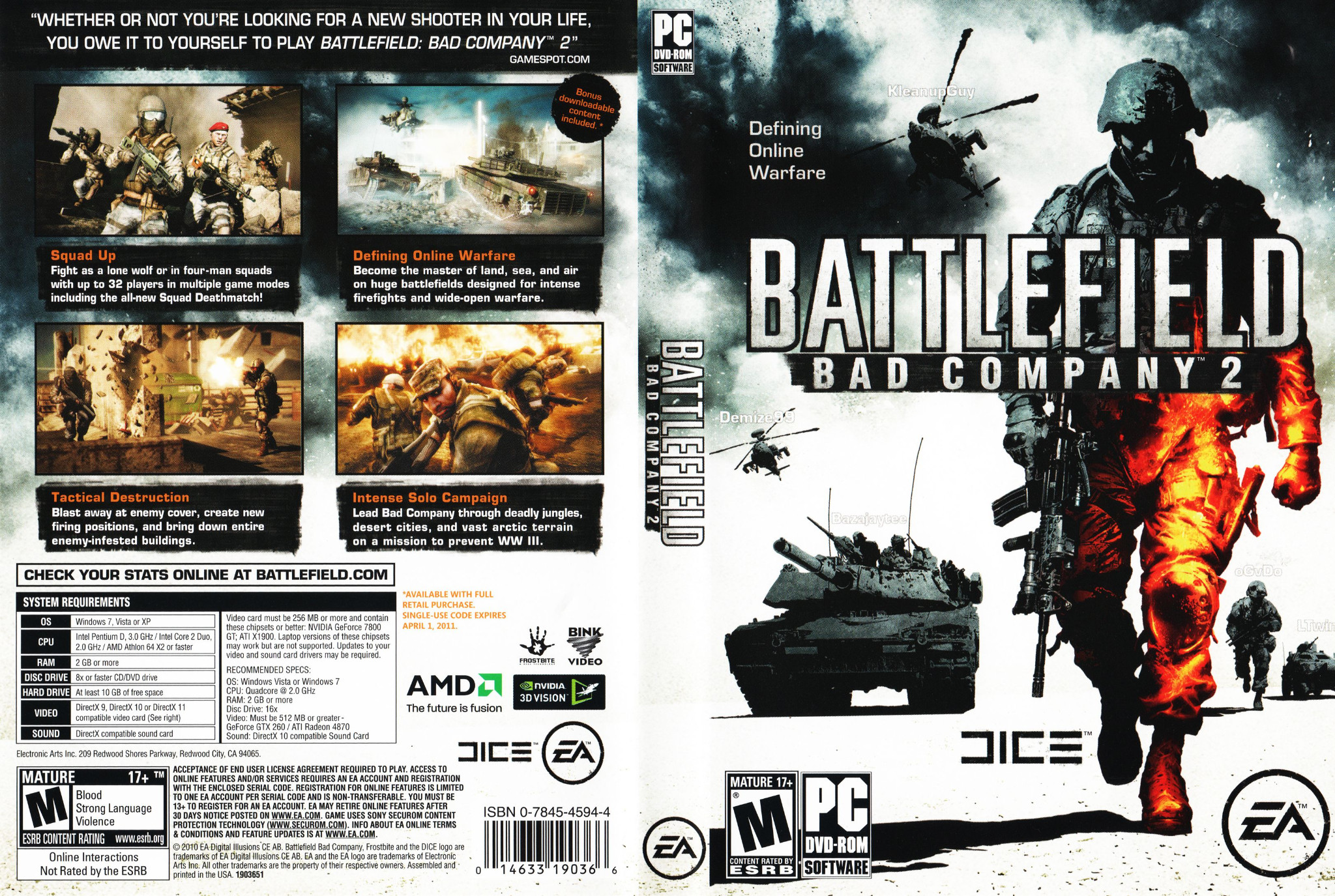 Capa Battlefield Bad Company 2 PC