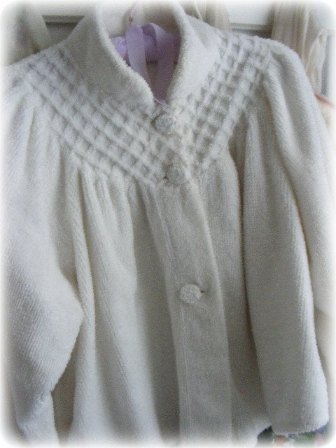Plus Size Bed Jacket Chenille
