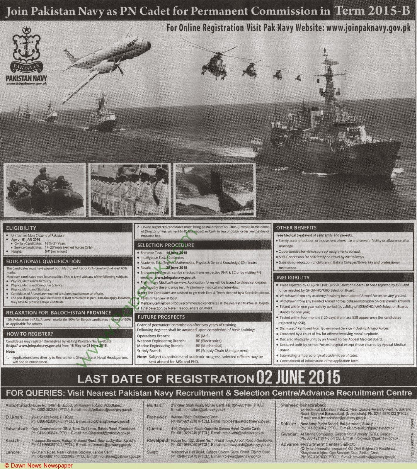 Pakistan Defence Forces Jobs: 2015