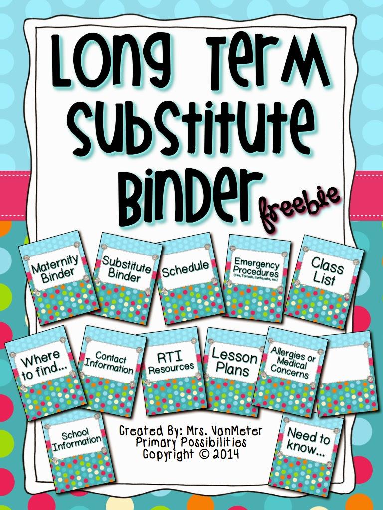 http://www.teacherspayteachers.com/Product/Long-Term-Substitute-Binder-1178838
