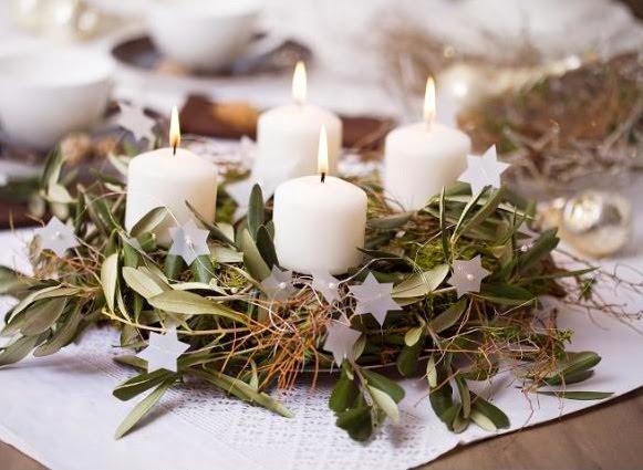 decoración de Navidad- corona de adviento