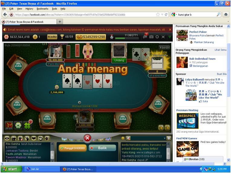 Jual chip poker 1b