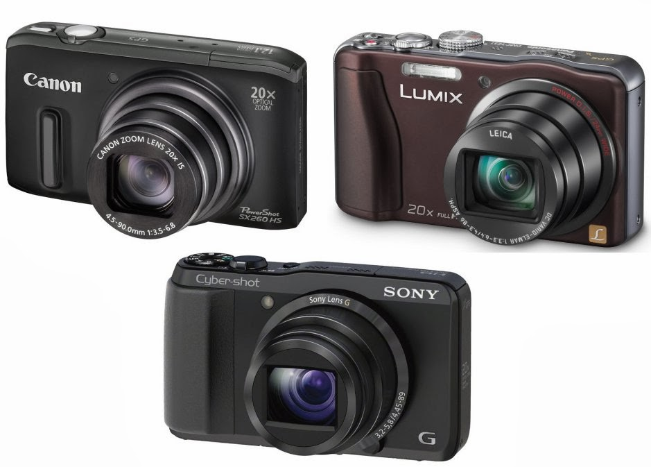 Sony Cyber-shot DSC-HX20V vs Canon SX260, vs Panasonic TZ31, HDMI, Full HD camera, creative filter, new camera