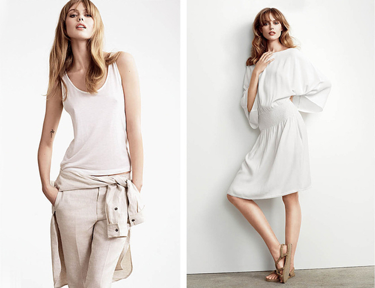 Frida Gustavsson for Totême summer 2014 look book, all white, monochromatic