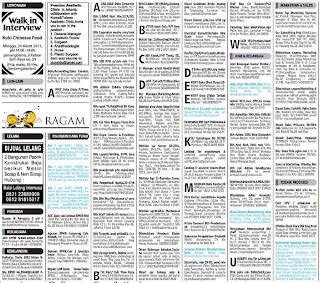 Lowongan kerja koran kompas Rabu 20 Maret 2013