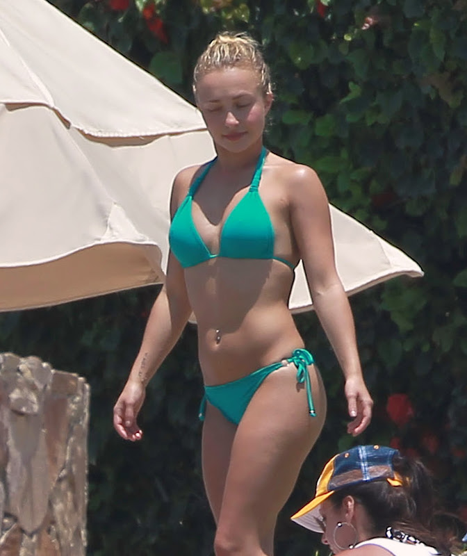Hayden Panettiere wearing  Green Bikini on vacation in Cabo San Lucas