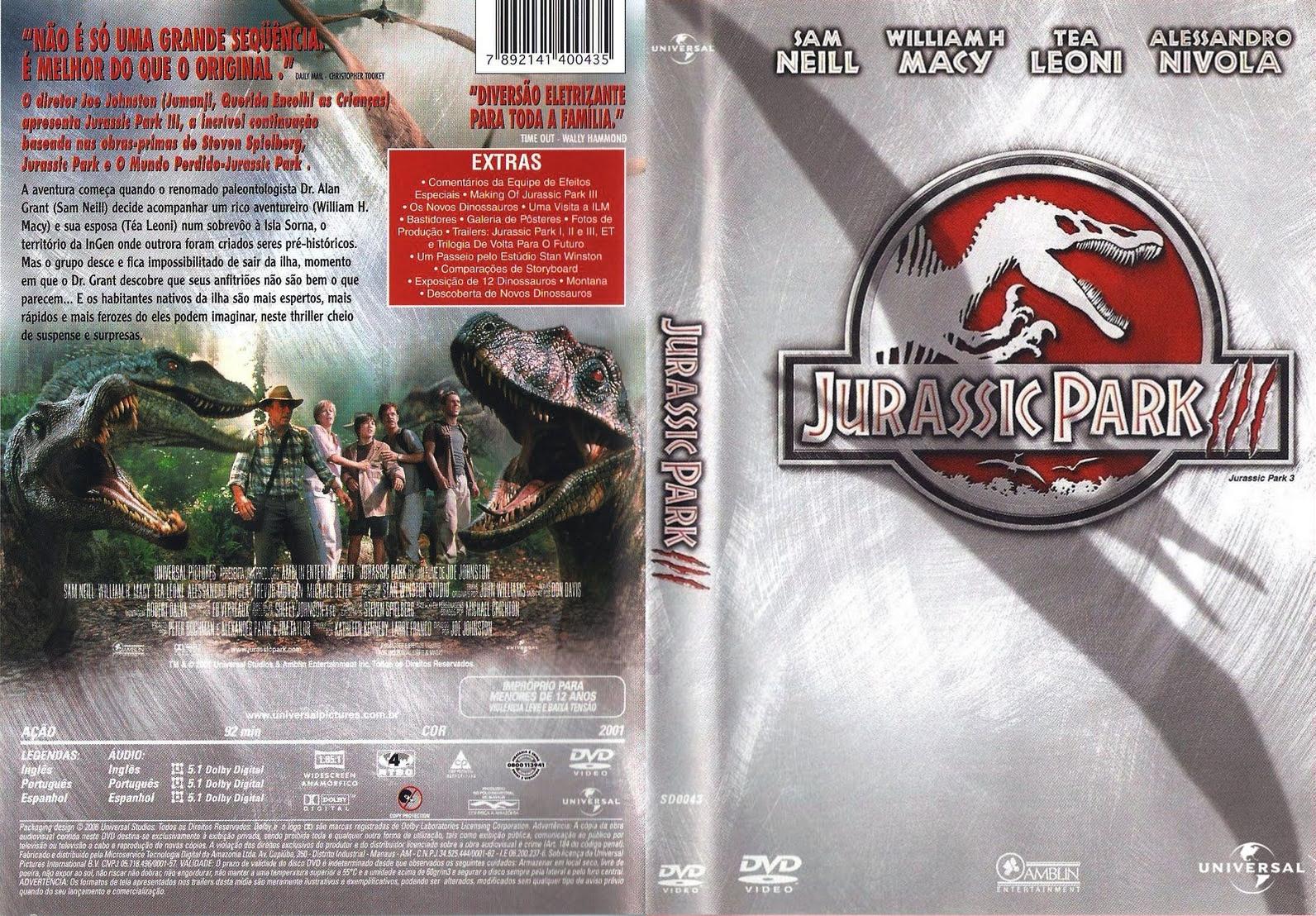 Torrent- Jurassic Park 3 Blu-ray rip 720p e 1080p Dual Áudio 5.1 (2001)