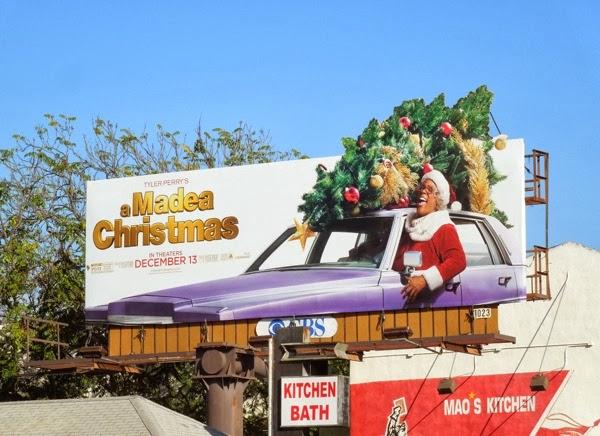 A Madea Christmas movie billboard