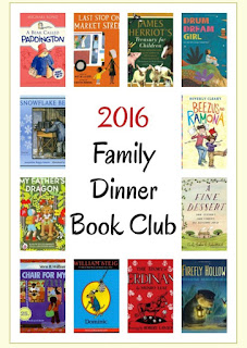 http://growingbookbybook.com/literacy-activities/family-dinner-book-club/