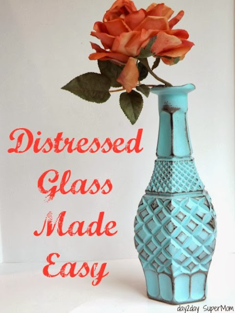 Distressed Glass Made Easy