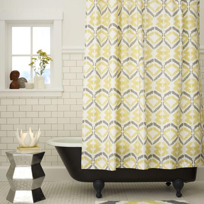 Cortinas De Baño Bonitas:Hermosas cortinas de baño de West Elm