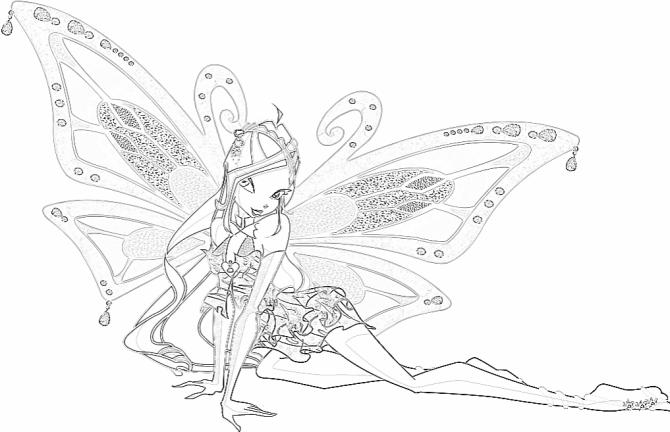 Tranh tô màu hình công chúa