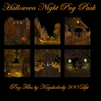 Halloween night Png tube pack