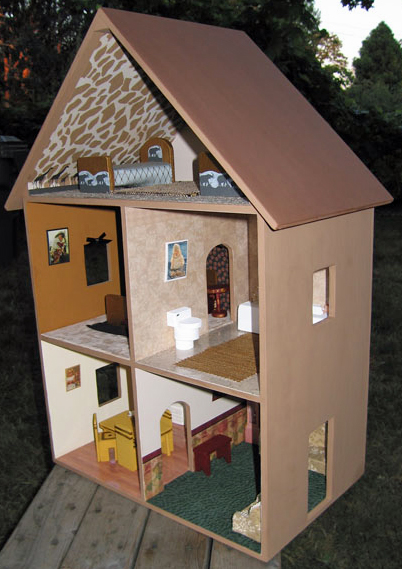 Dollhouse Decorating A Completed Playable Lighted Wooden