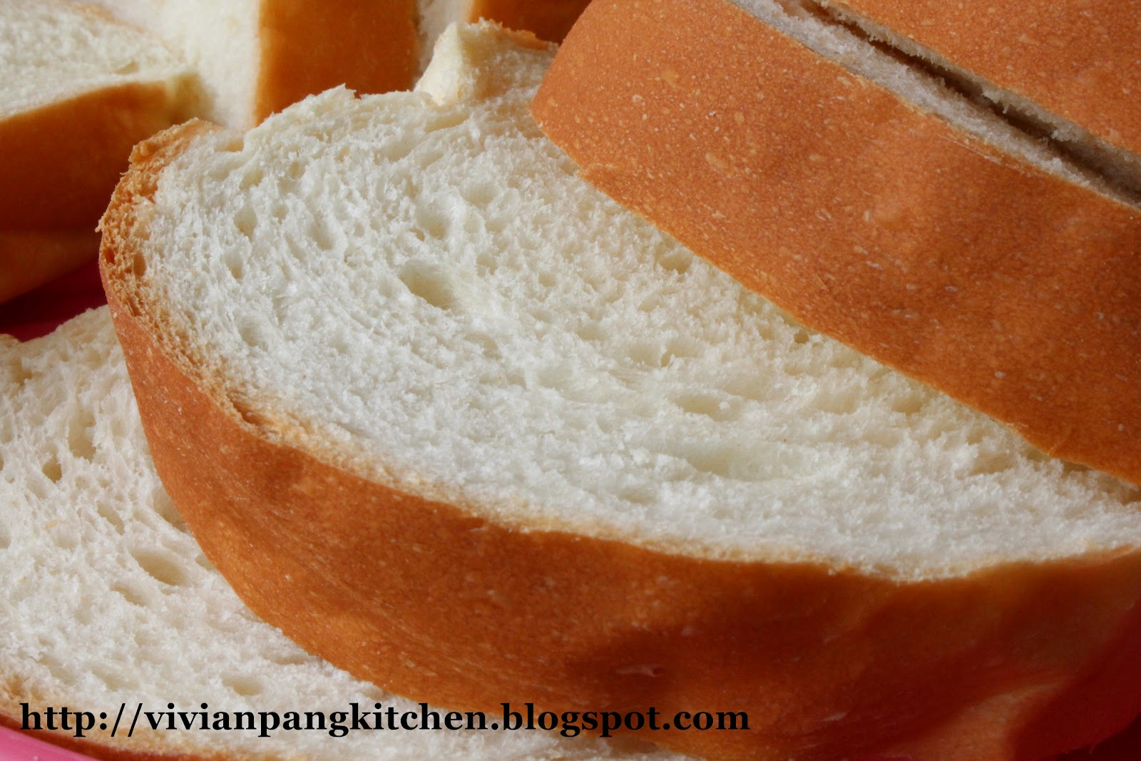 Vivian Pang Kitchen: Milky Loaf Bread/ Straight Dough Method