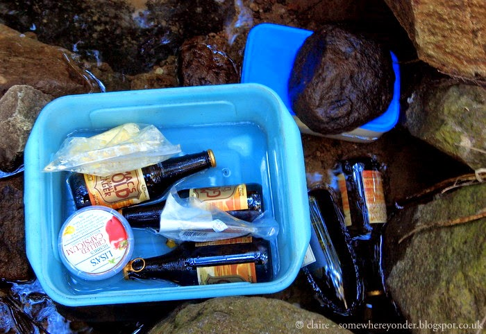 keeping our Mac's Gold (kiwi beer) cold on Great Barrier Island, New Zealand