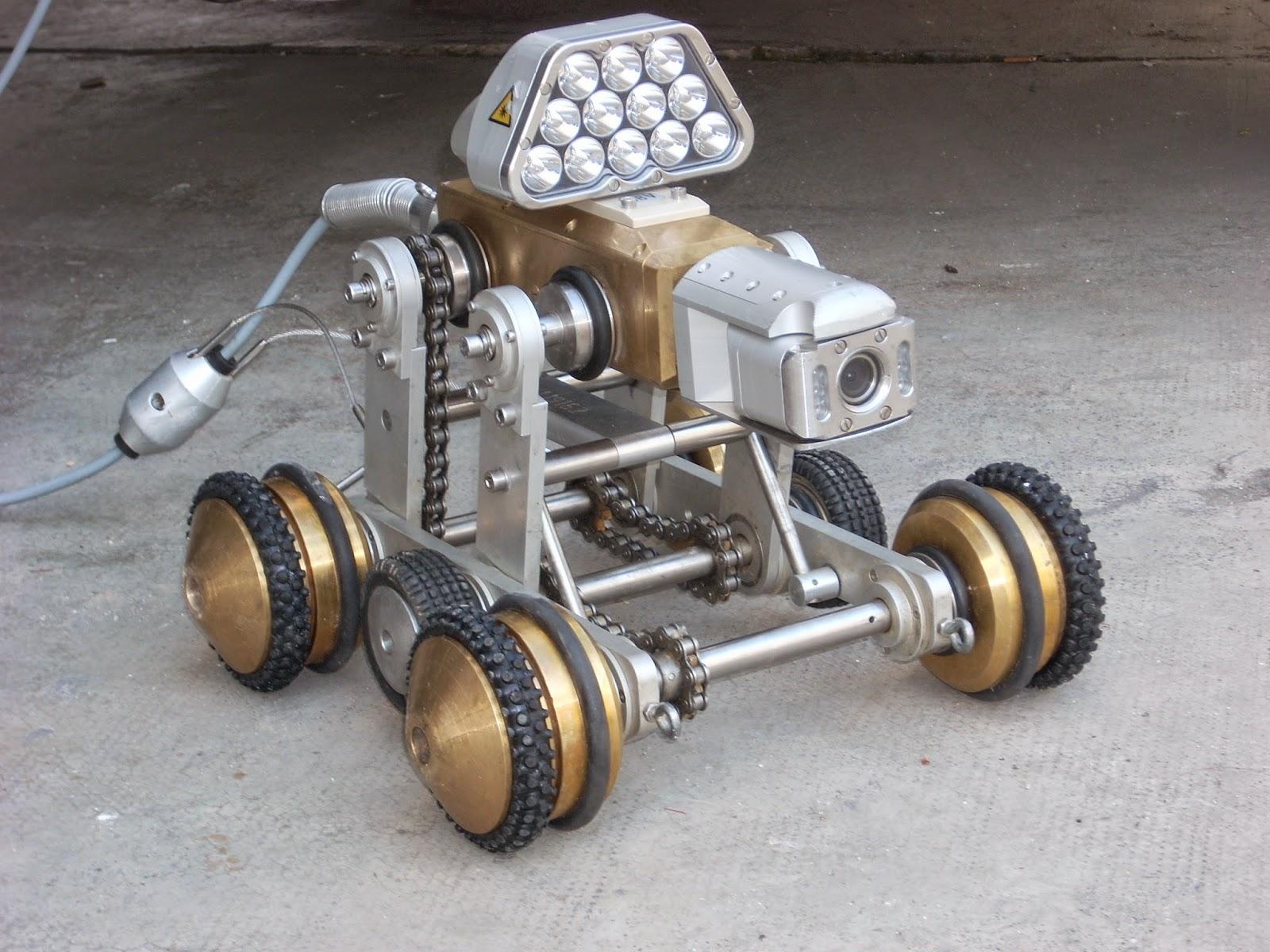 Robot con cámara de TV para inspección de tuberías