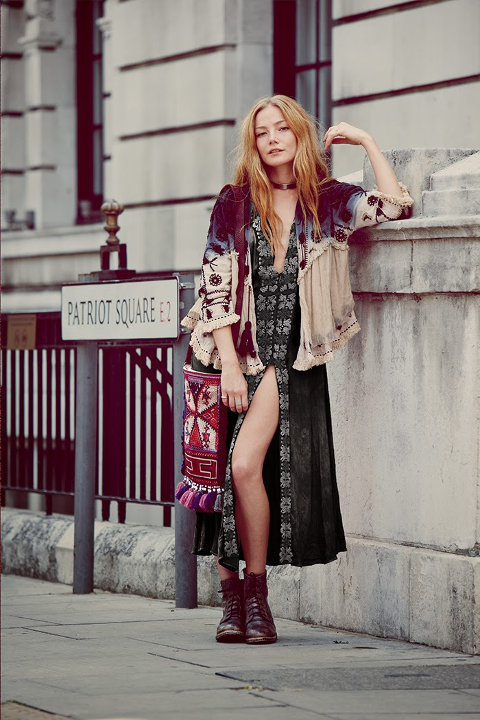 Free People features selfies in the Instagram themed September 2014 Lookbook