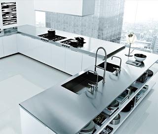 Modern Italian Kitchen Chrome