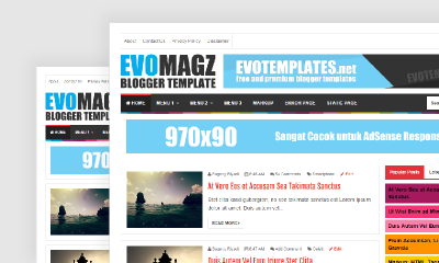 Download Evo Magz Premium Blogger Template