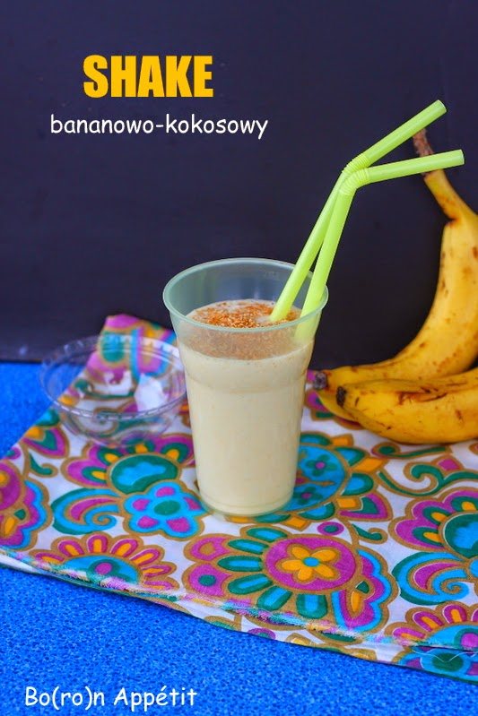 Shake bananowo-kokosowy