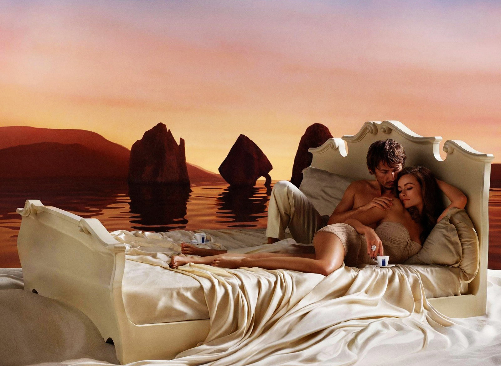 Romantic Couple On Bed Image