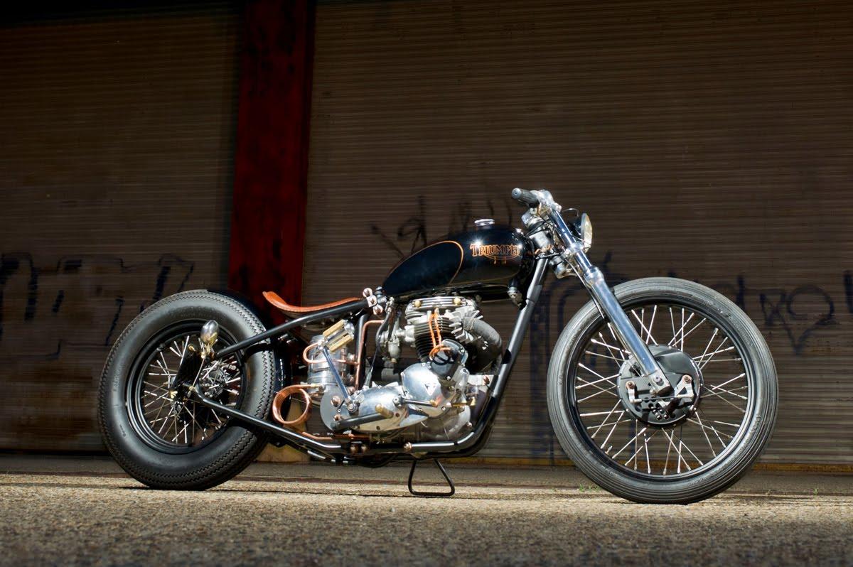 Customer Bike Spotlight Daves Lean &amp Mean Triumph Chopper