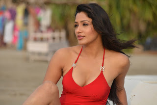 Kesha Khambhati in Deep Neck Tank Top and Spicy Shorts Beech Side Pics from movie Best Actors