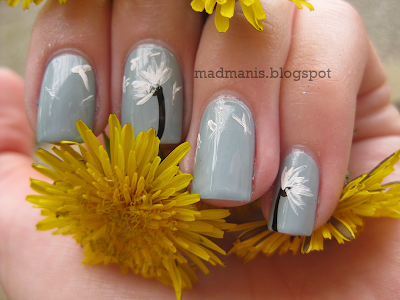 Mad manis dandelion nail art tutorial ive added a short video at the end if youd prefer that instead of pictures without further ado lets get started prinsesfo Choice Image