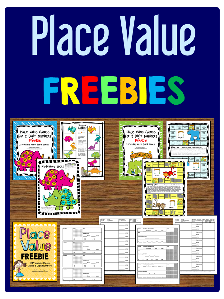 Unforgettable image intended for printable place value game