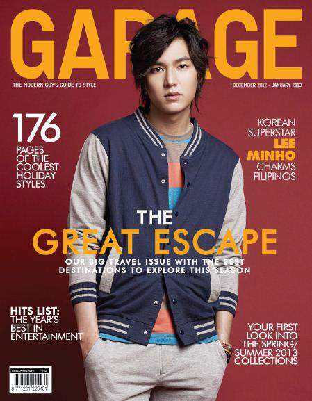 Lee Min Ho Covers Garage Magazine December 2012-January 2013 Issue