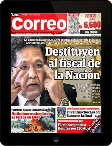 Correo 14 mayo 2015 destituyen al fiscal de la naci n for Correo la 14