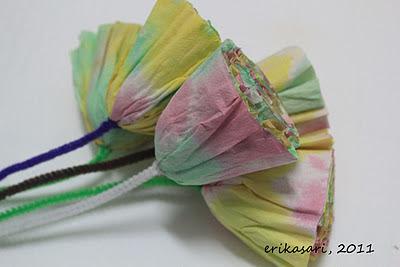 bunga dari kertas tissue