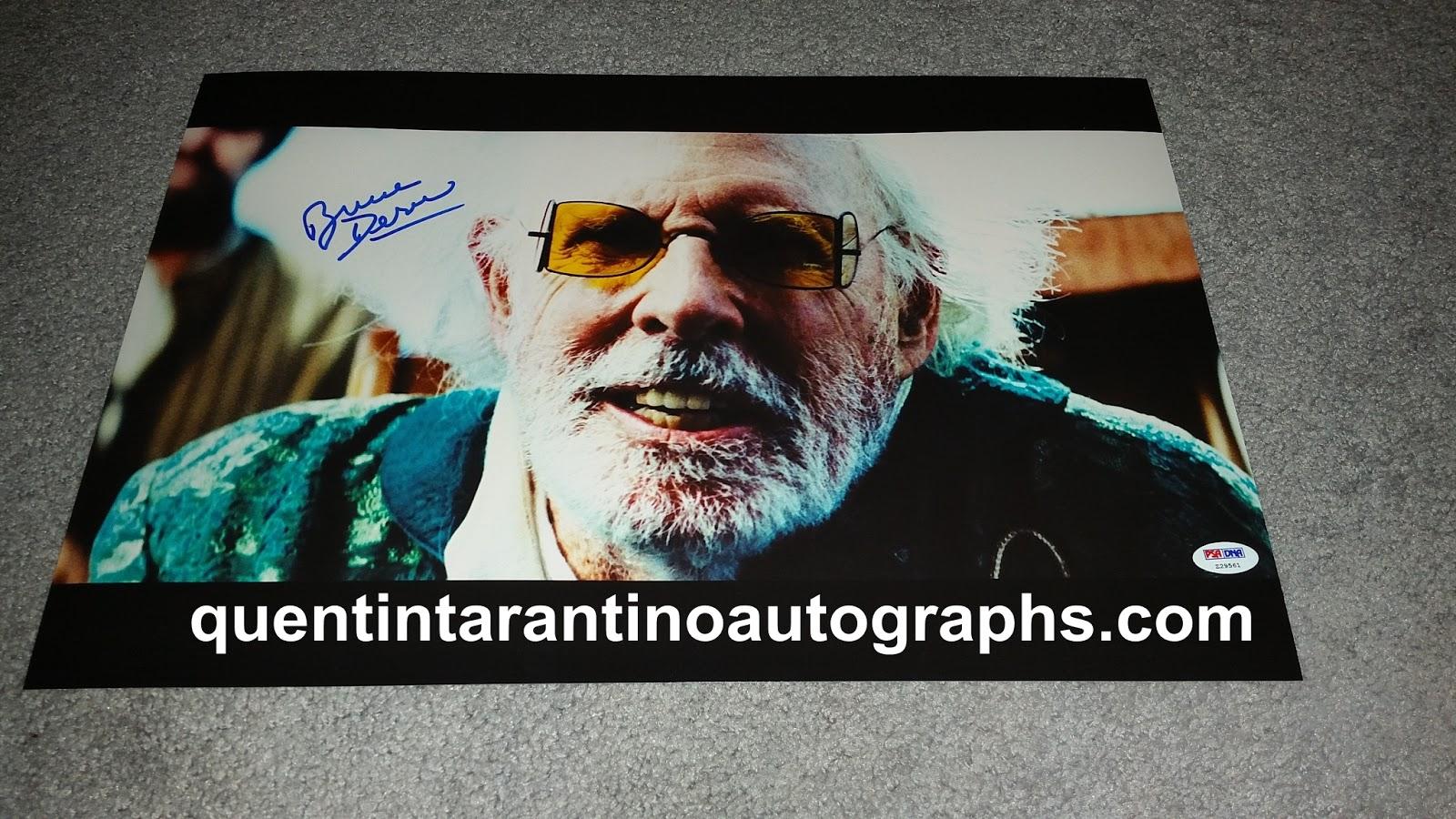 e999208834e My Quentin Tarantino Autograph Collection  Bruce Dern AKA Old Man ...