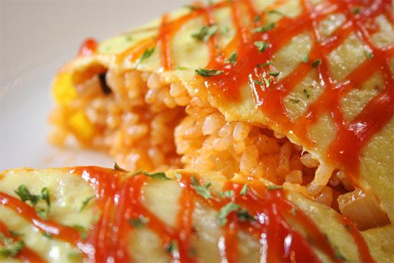 рисовый омлет рецепт с фото