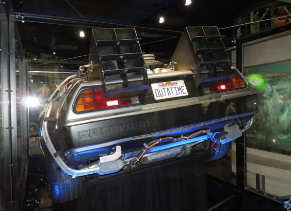 Back to Future DeLorean Time Machine trunk