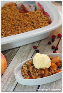 Slow Cooker Cranberry Apple Crisp (with a secret ingredient)