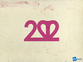 2012 New Year HD Simple Text Wallpaper