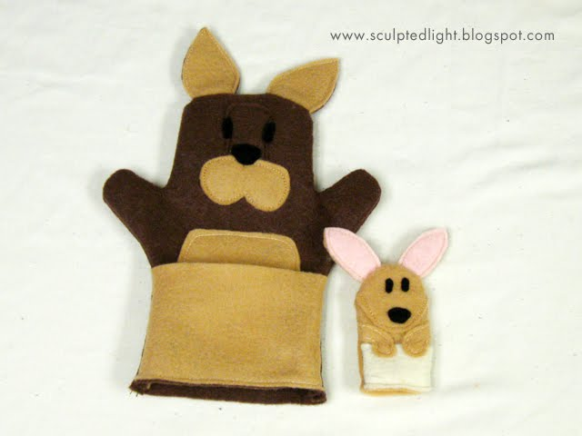 Kendrick storytime felt zoo animal puppets for Kangaroo puppet template