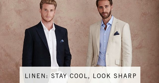stay cool in linen