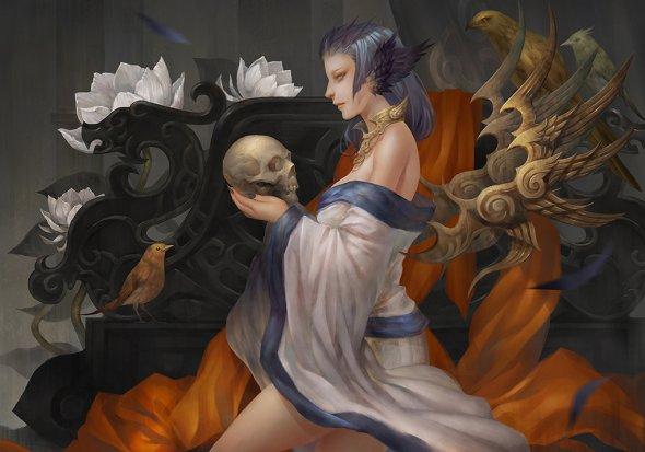 Roro Zhu rororei deviantart ilustrações fantasia com toque oriental mitologia chinesa