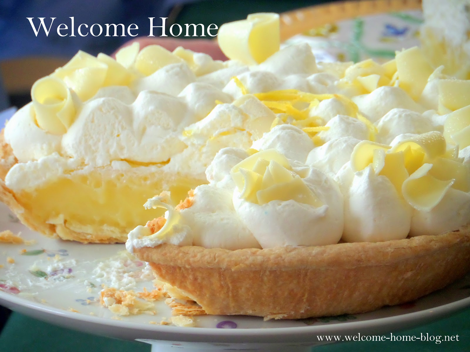 Welcome Home Blog: Lemon Cream Pie