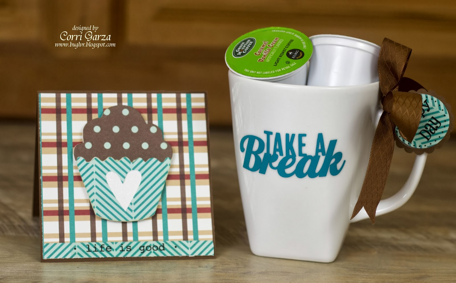SRM Stickers Blog - Coffee Lover's Gift Set by Corri - #vinyl #sentiments #stickers #card #gift