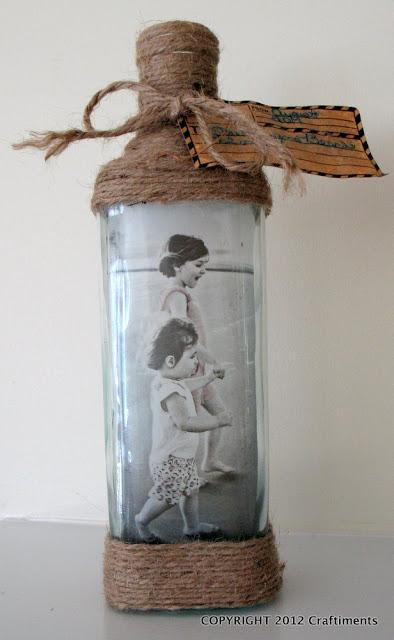 Decorando y renovando diy marcos de fotos con botellas - Decorando con fotos ...