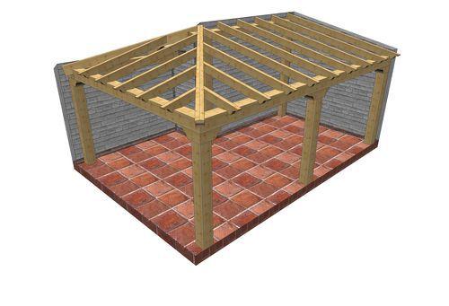 Maderas quintana cubierta y estructuras de madera for Tejados de madera a cuatro aguas