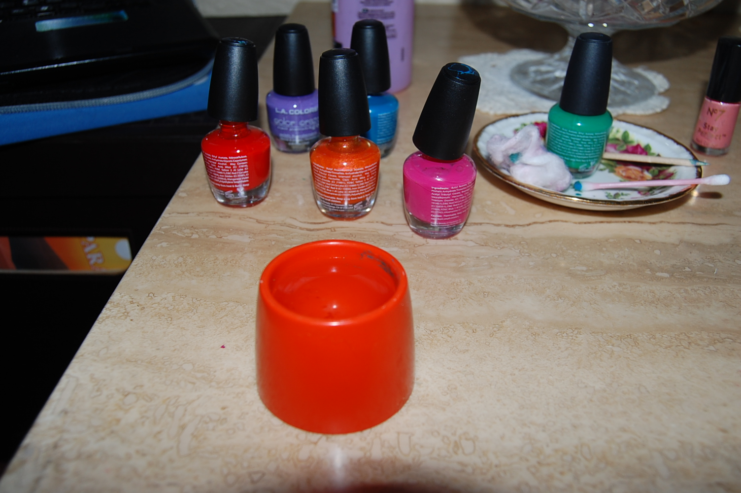 Materials Nail Polish Remover Cotton Wool Or Pads Needle Something Sharp Some Water And A Container To Put It In