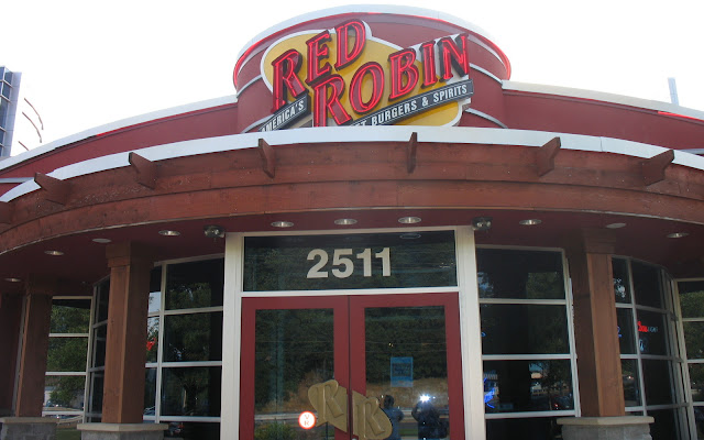 The entrance to Red Robin in Poughkeepsie, NY