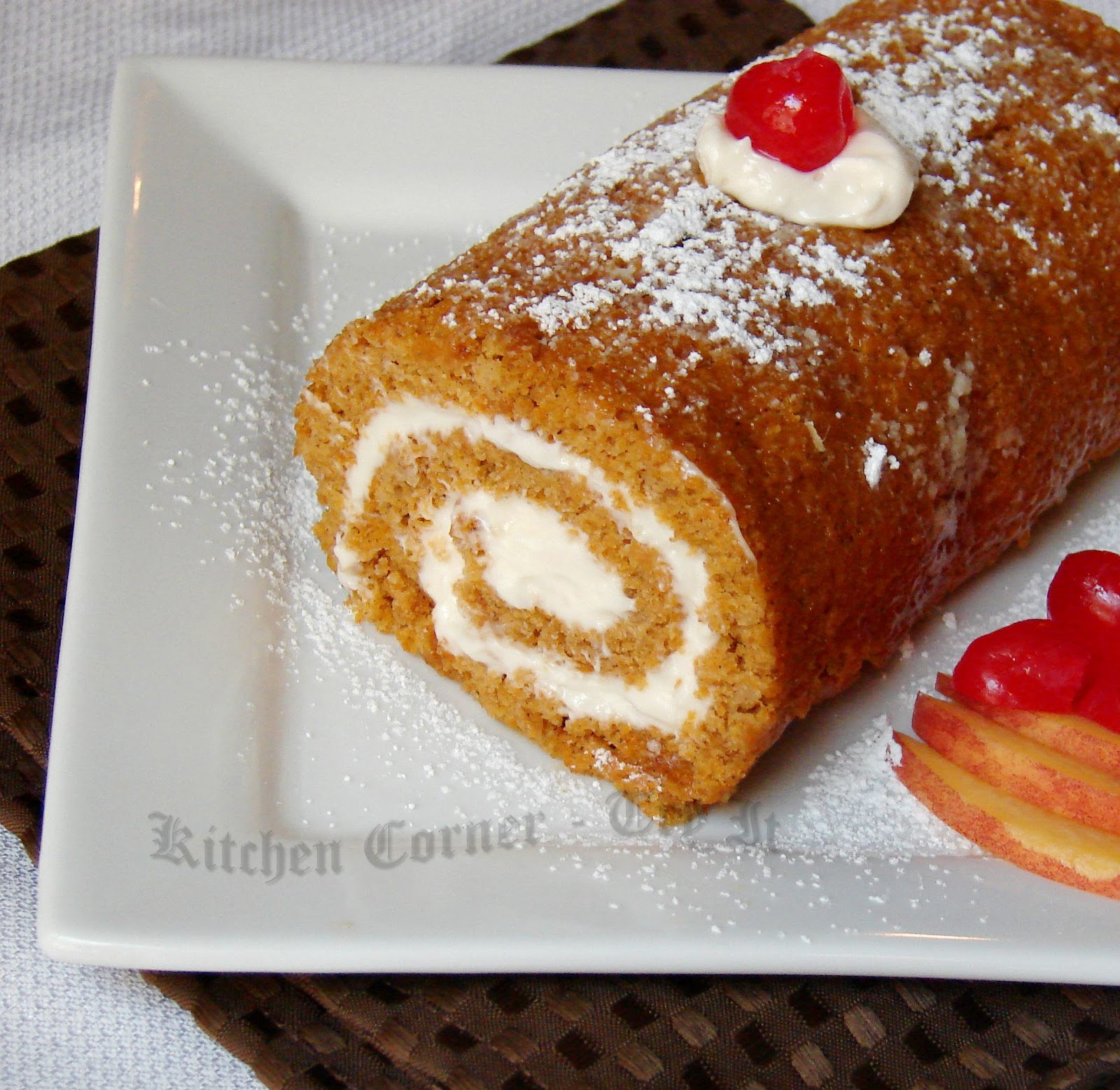 ... roll pumpkin roll lightened up beat the eggs and sugar pumpkin roll